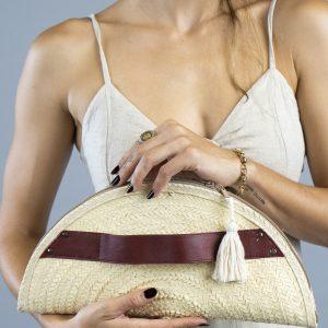 bolsa tipo clutch de palma