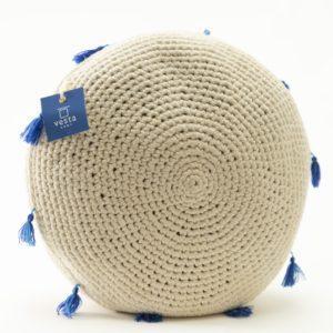cojín redondo crochet